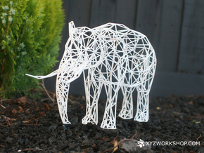 Digital Safari- Elephant (Large) in White Natural Versatile Plastic