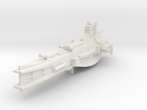 1:3000 Salamis from Gundam in White Natural Versatile Plastic