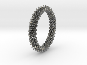 Spikey Bangle 2 in Polished Silver