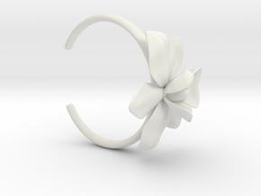Orchid Bracelet- Nylon Version in White Natural Versatile Plastic: Large