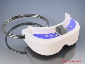 FPV Goggles Keychain in White Natural Versatile Plastic: Small