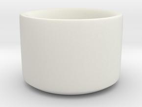 Qing/Chinese/Manchu Archer's Thumb Ring (Zihgir) in White Natural Versatile Plastic: Medium
