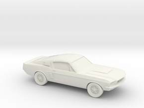 1/87 1966 Ford Mustang  in White Natural Versatile Plastic