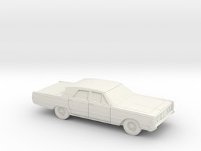1/87 1965 Mercury Breezeway Sedan in White Natural Versatile Plastic