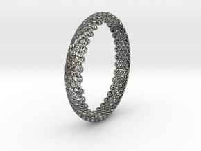 Hex Bangle 2 in Polished Silver