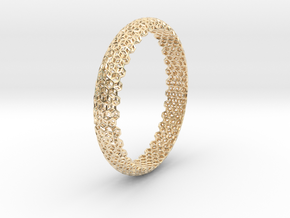 Hex Bangle 2 in 14k Gold Plated Brass