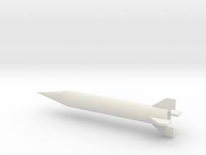 1/72 Scale Iraqi Al Samoud II Missile in White Natural Versatile Plastic