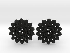 Plugs The Chrysanthemum / gauge / size 6G (4mm) in Black Natural Versatile Plastic