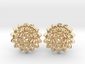 Plugs The Chrysanthemum / gauge / size 6G (4mm) in 14k Gold Plated Brass