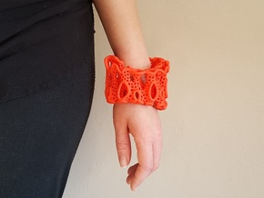 Coral Cuff Bracelet in Red Strong & Flexible Polished