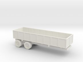 1/110 Scale M-35 Cargo Trailer in White Natural Versatile Plastic