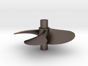 4 blade 5 inch right hand propeller  in Polished Bronzed Silver Steel