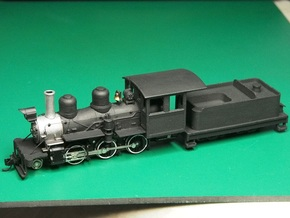 Parts for 2-6-0 conversion (cab,pilot,tender) A in White Processed Versatile Plastic