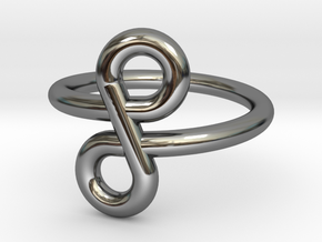 Infinity Ring in Fine Detail Polished Silver: 5 / 49