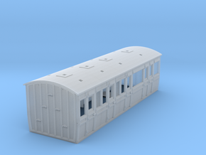 LCDR / SECR Semi-Saloon Disabled - 4mm in Smooth Fine Detail Plastic