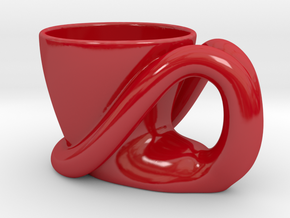 Yoga Cup  in Gloss Red Porcelain