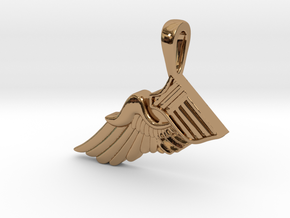 The Broken Wing in Polished Brass