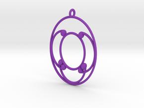 Oval Pendant in Purple Processed Versatile Plastic
