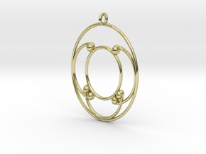 Oval Pendant in 18k Gold Plated Brass