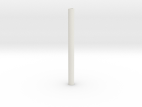 blanks 7mm predrilled in White Natural Versatile Plastic: Extra Small