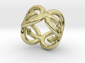 Coming Out Ring 29 – Italian Size 29 in 18k Gold Plated Brass