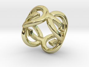 Coming Out Ring 31 – Italian Size 31 in 18k Gold Plated