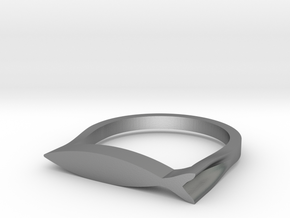 Fish Ring in Natural Silver: 8 / 56.75
