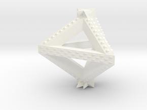 Trice Power Pendant in White Processed Versatile Plastic