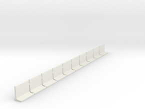 N Scale Retaining Walls 1500mm 10pc in White Strong & Flexible