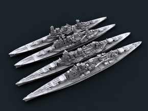 1/3000 WW2 Royal Navy Battlecruisers + Hood in Smooth Fine Detail Plastic