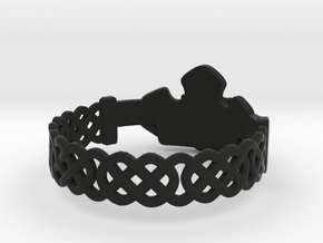 Claddagh Ring in Black Natural Versatile Plastic: 8.5 / 58