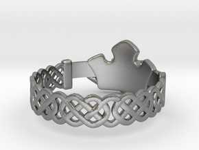 Claddagh Ring in Natural Silver: 7.25 / 54.625