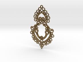 BlakOpal Linked Earring in Polished Bronze (Interlocking Parts)