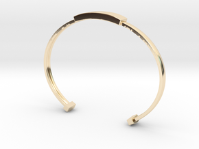 Minimalist Bangle (Sizable) (Personalisation Avail in 14K Yellow Gold
