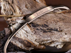 Minimalist Bangle (Sizable) (Personalisation Avail in 14k Gold Plated Brass
