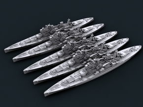1/4800 WW2 Royal Navy King George V Class BBs in Frosted Ultra Detail