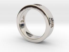 LOVE RING Size-13 in Platinum
