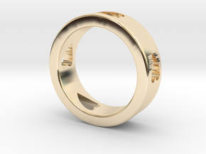 LOVE RING Size-13 in 14k Gold Plated Brass