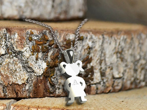 My Special Girl Pendant in Rhodium Plated Brass