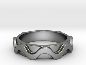 Copa band Ring Size 5 in Polished Silver: 5 / 49