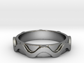 Copa band Ring Size 7 in Polished Silver: 7 / 54