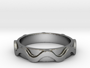 Copa band Ring Size 8 in Polished Silver: 8 / 56.75