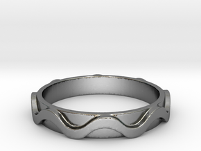 Copa band Ring Size 12 in Polished Silver: 12 / 66.5