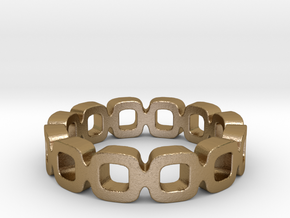 Ipa link Ring Size 5 in Polished Gold Steel