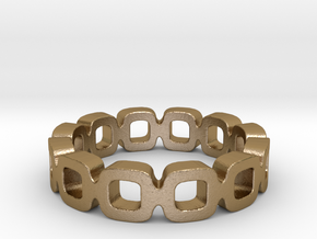 Ipa link Ring Size 5.5 in Polished Gold Steel: 5.5 / 50.25