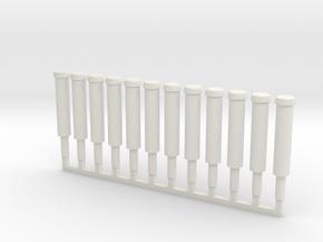 Fireplug Post in O Scale 12x in White Natural Versatile Plastic