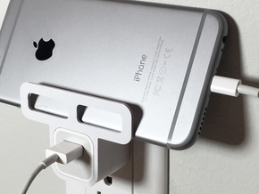 Iphone/Ipad Wall Holder in White Processed Versatile Plastic