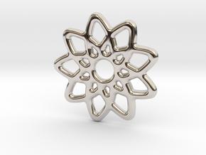 Star Pendant in Rhodium Plated Brass