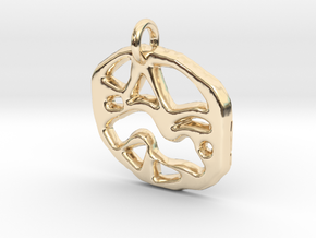 abstract shapes in 14K Yellow Gold
