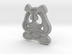 Paper Goomba in Aluminum